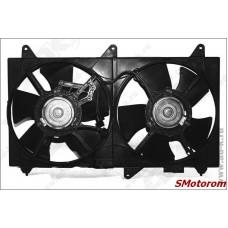 Вентилятор радиатора охлаждения в сборе (2.4 Mitsubishi) (с диффузором)