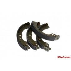 Колодки тормозные задние (с ABS-АБС) (комплект 4шт) ABE