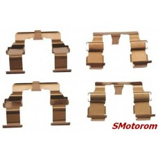 Пластины передних колодок (комплект 4шт, пружина прижимная монтажная)