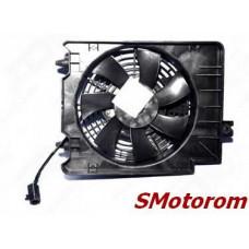 Вентилятор радиатора кондиционера правый (в сборе) (с диффузором)